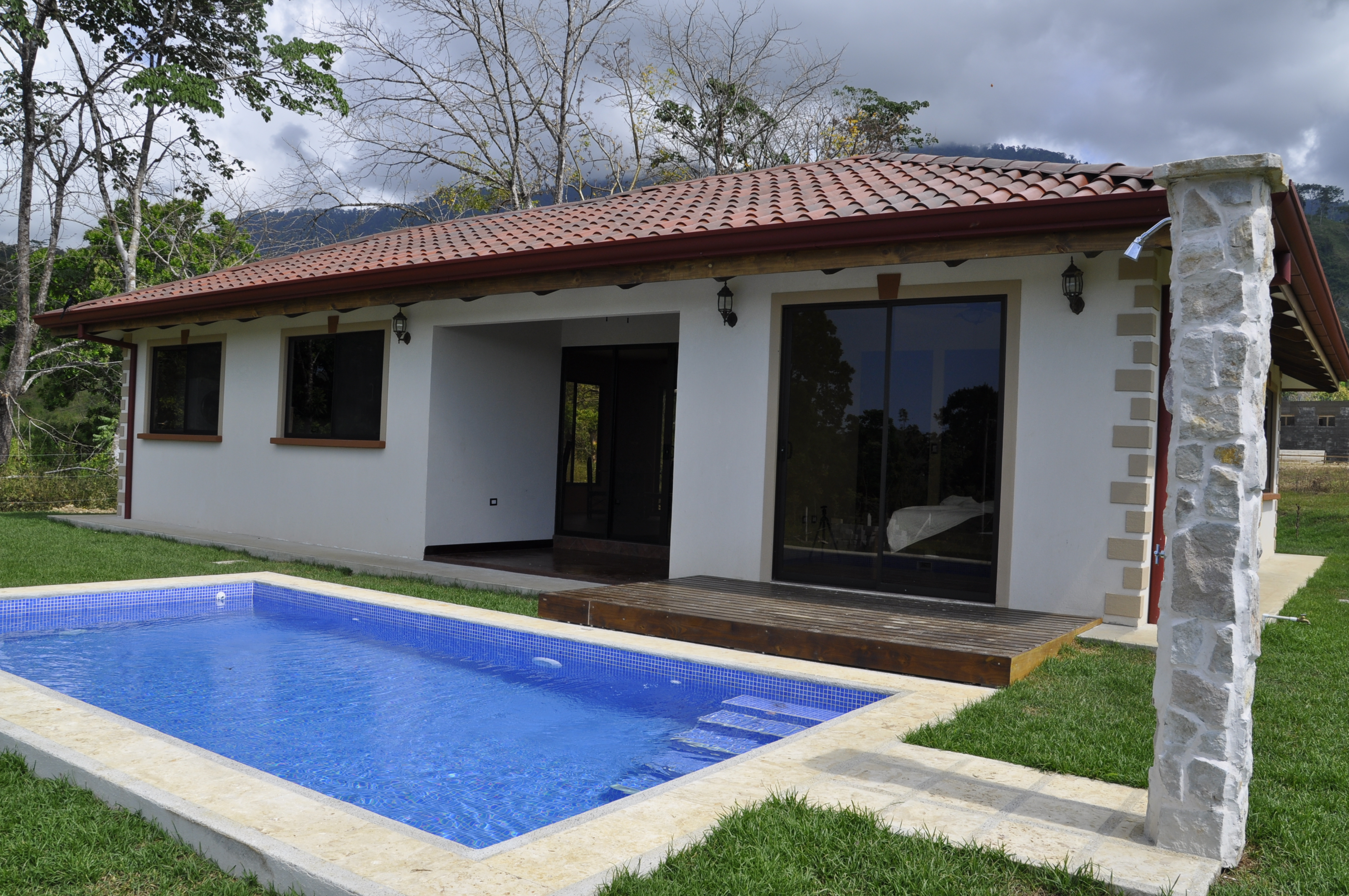 Casa Trogon Back Pool Affordable Costa Rica Real Estate